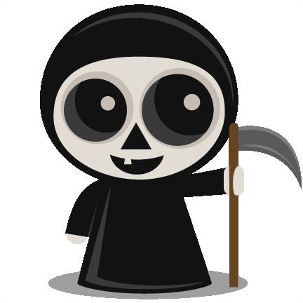 jpg free stock Svg scrapbook cut file. Grim reaper clipart silhouette
