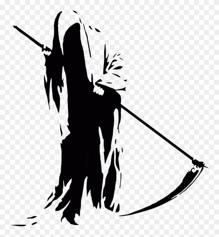 picture black and white stock Grim reaper clipart silhouette. Transparent png black and