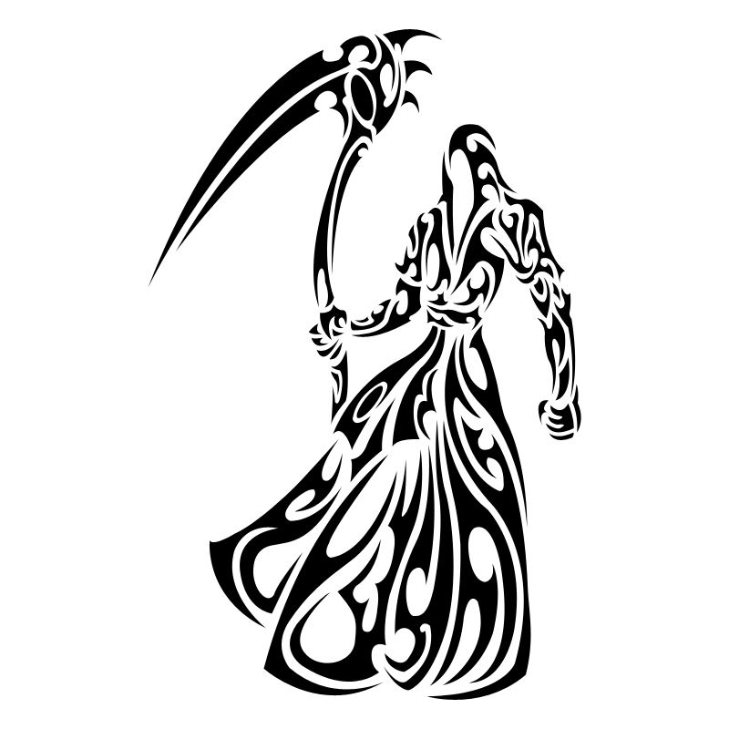 image Grim reaper clipart tribal. Browsing portraits figures on