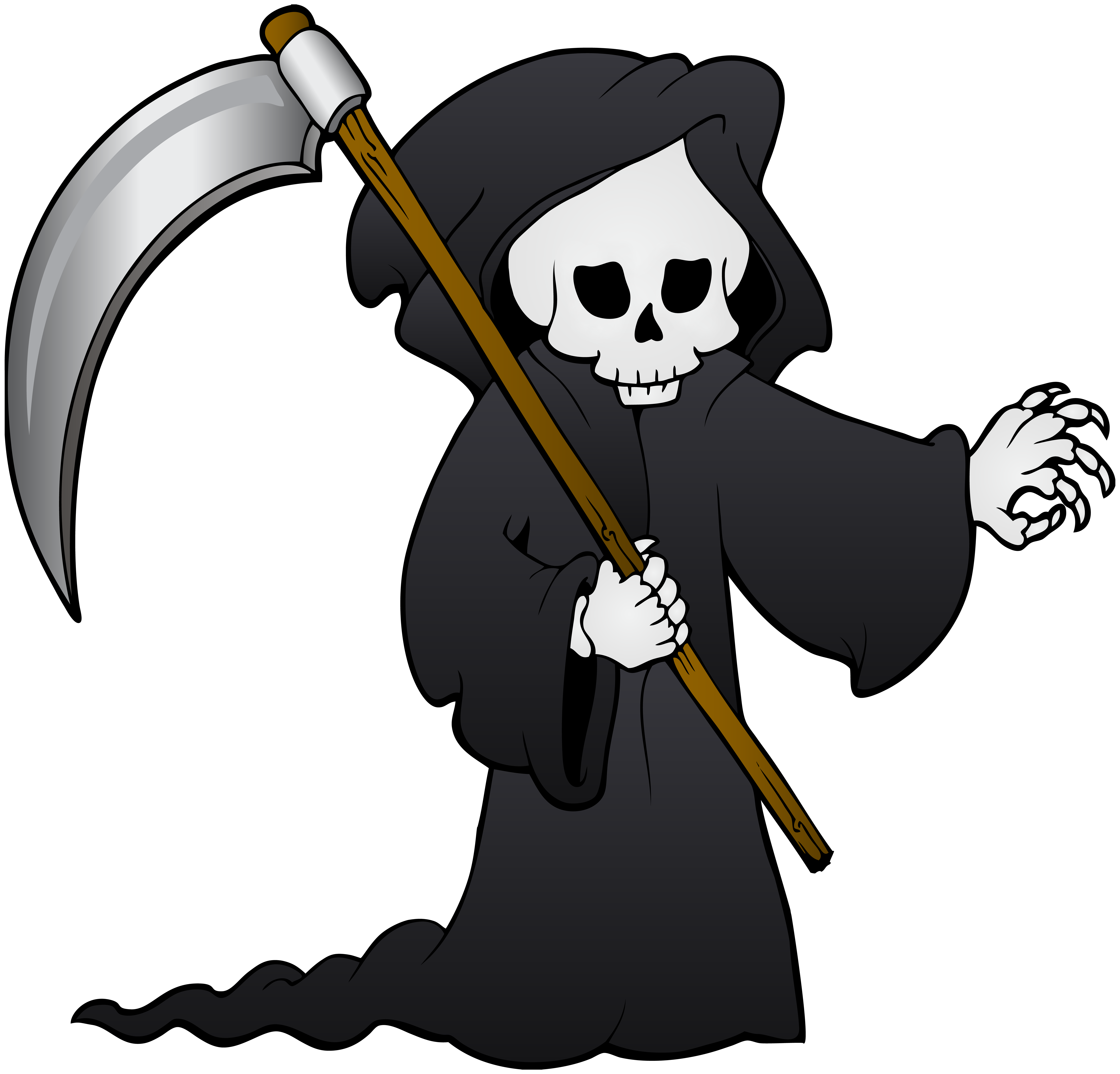 banner free stock Grim reaper clipart. Png clip art image.