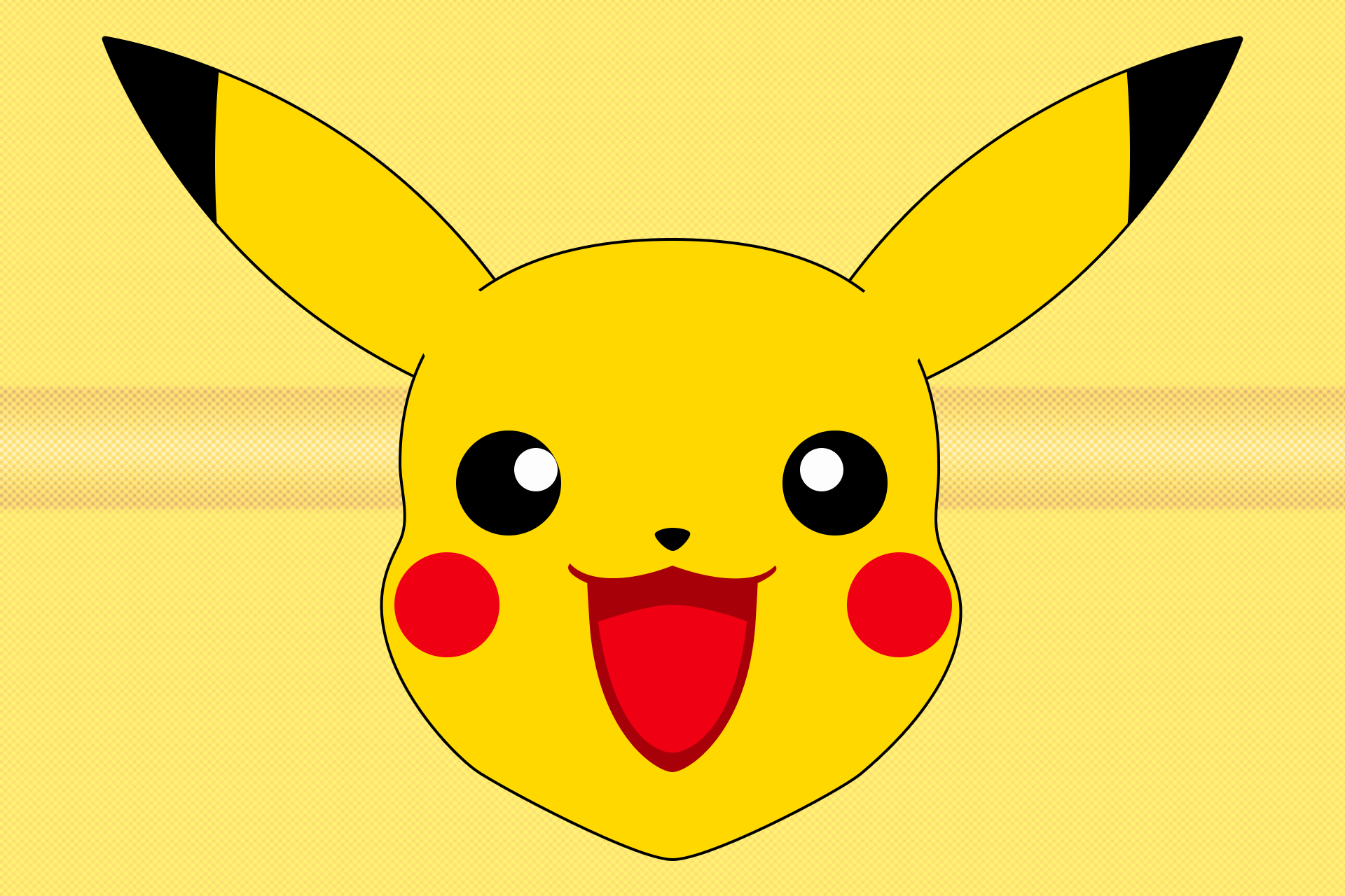 graphic royalty free library Pikachu anime face onlookin. Grinch clipart mask