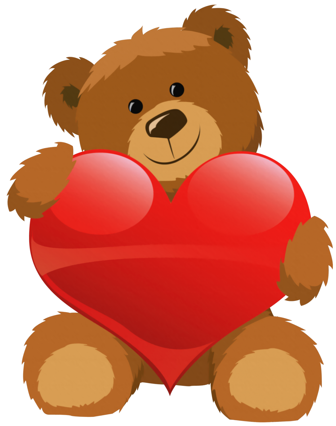 royalty free Grizzly bear clipart. Cute with heart png