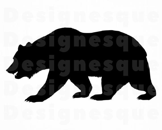 clipart Silhouette svg files for. Grizzly bear clipart