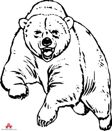 picture freeuse library Grizzly bear clipart black and white. Free drawing patterns to