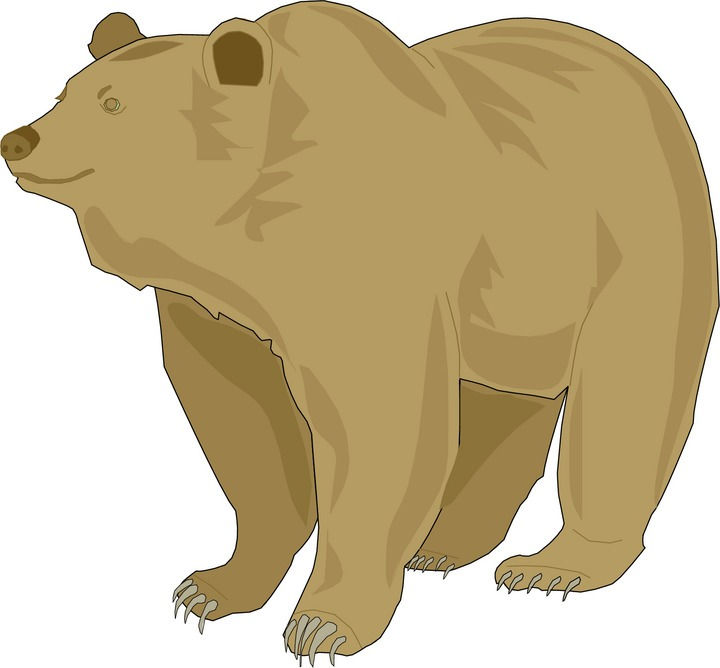 vector black and white stock Free cliparts download clip. Grizzly clipart