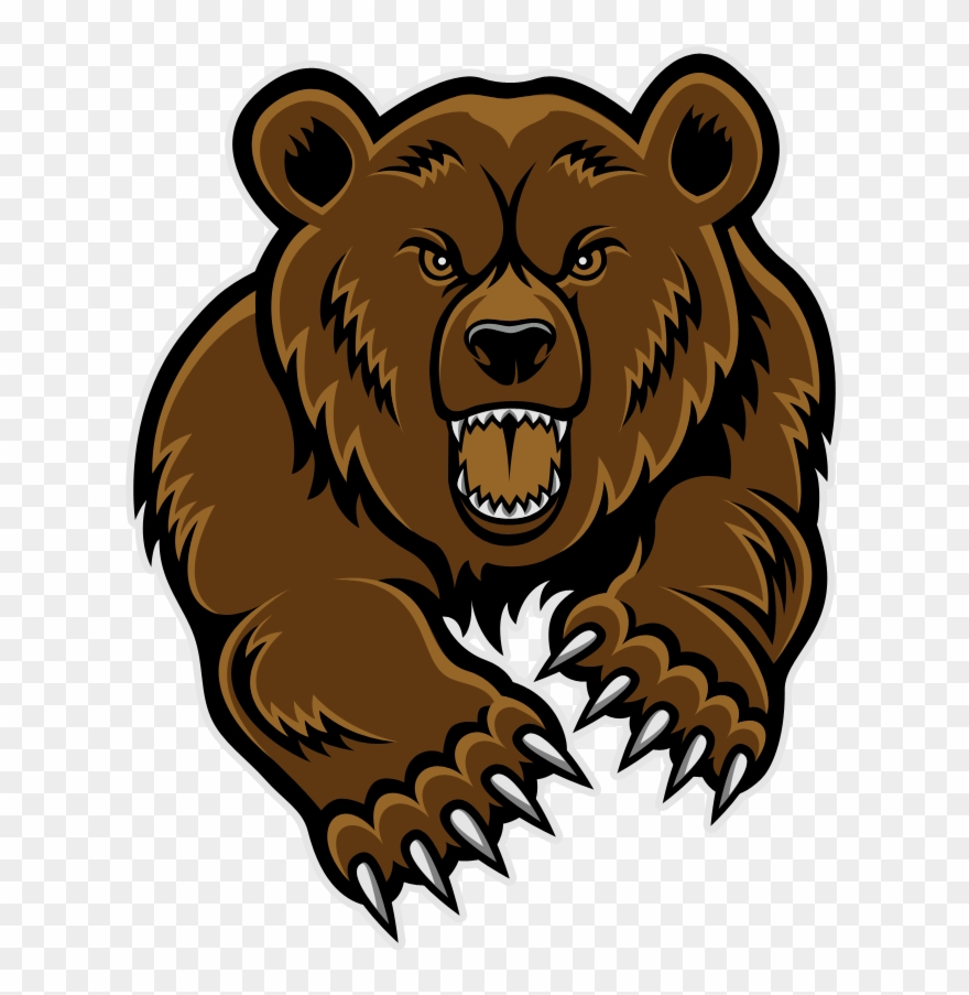 royalty free library Grizzly clipart. Bear mascot head clip
