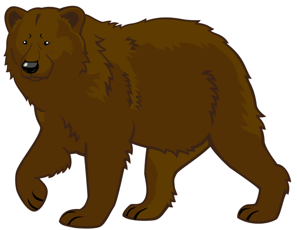 vector royalty free Bear scary free on. Grizzly clipart