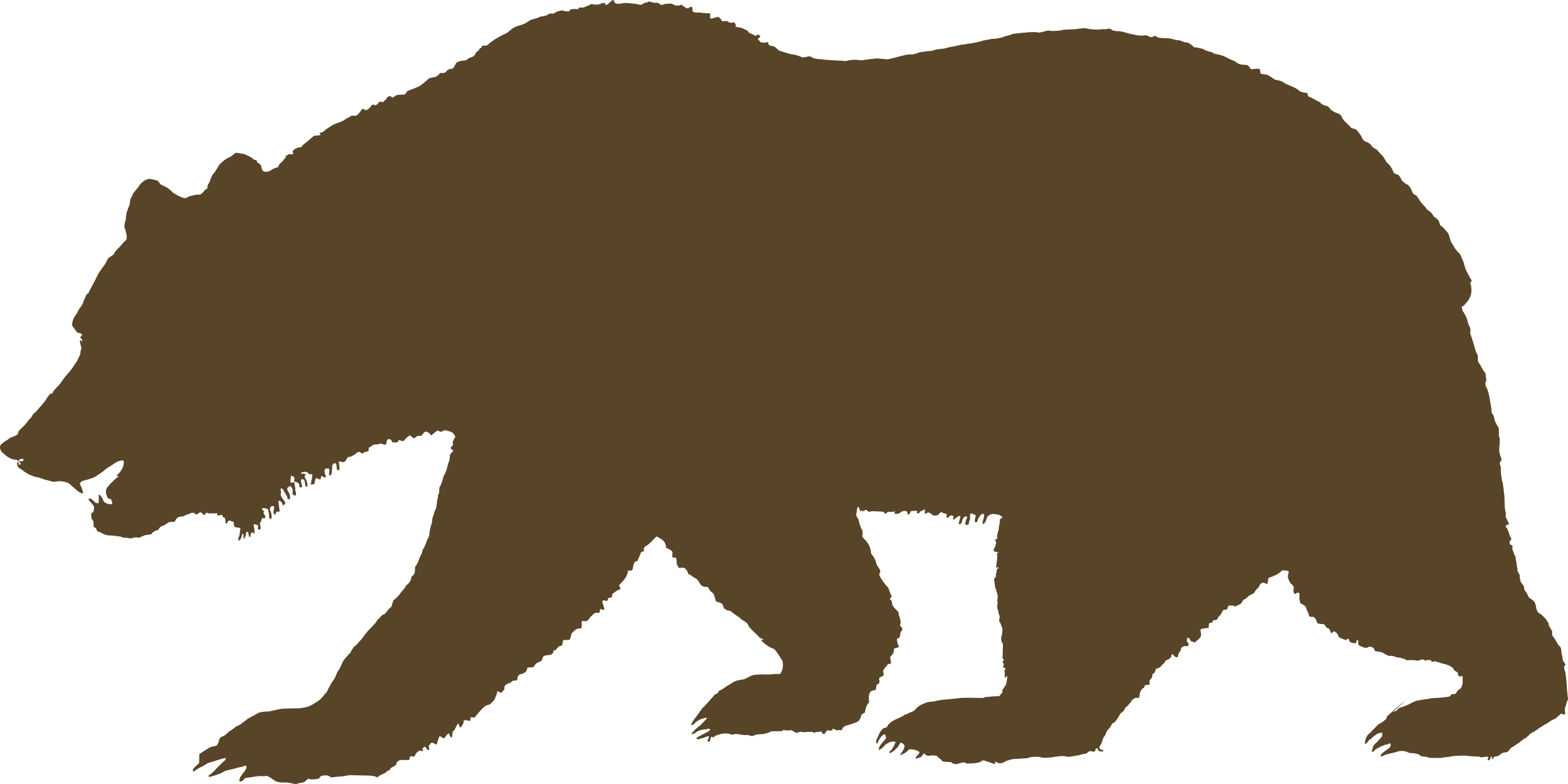 clipart freeuse California republic flag of. Grizzly clipart bear cali