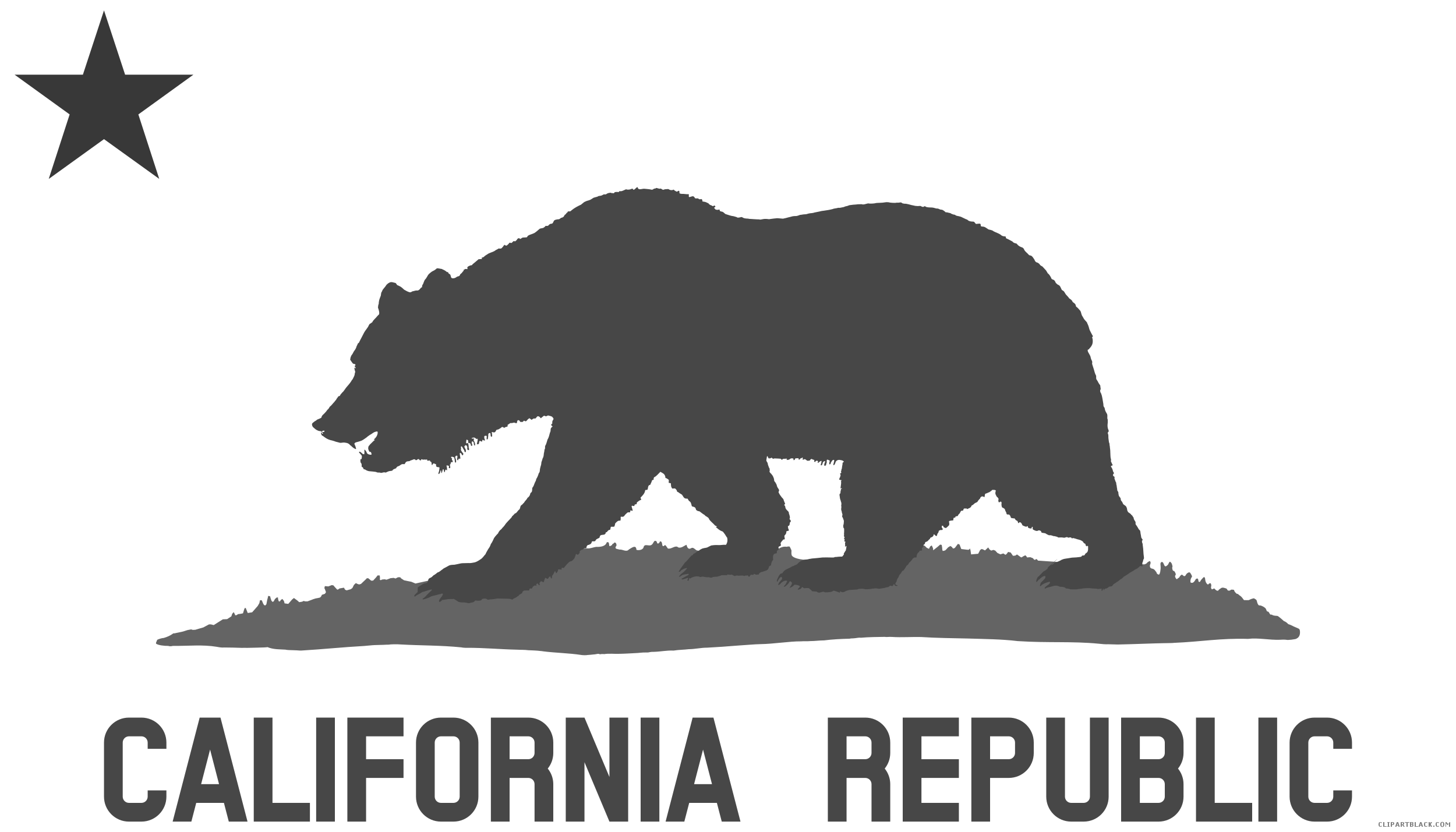 image stock California black and white. Grizzly clipart bear cali