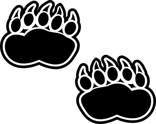 graphic library Grizzly clipart bear footprint. Footprints clip art at