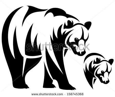 png black and white stock Baby panda free . Grizzly clipart bear tattoo