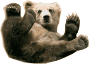 svg royalty free library Bear at clker com. Grizzly clipart clip art