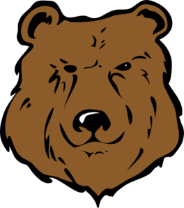 banner transparent Brown bear drawing clip. Grizzly clipart head