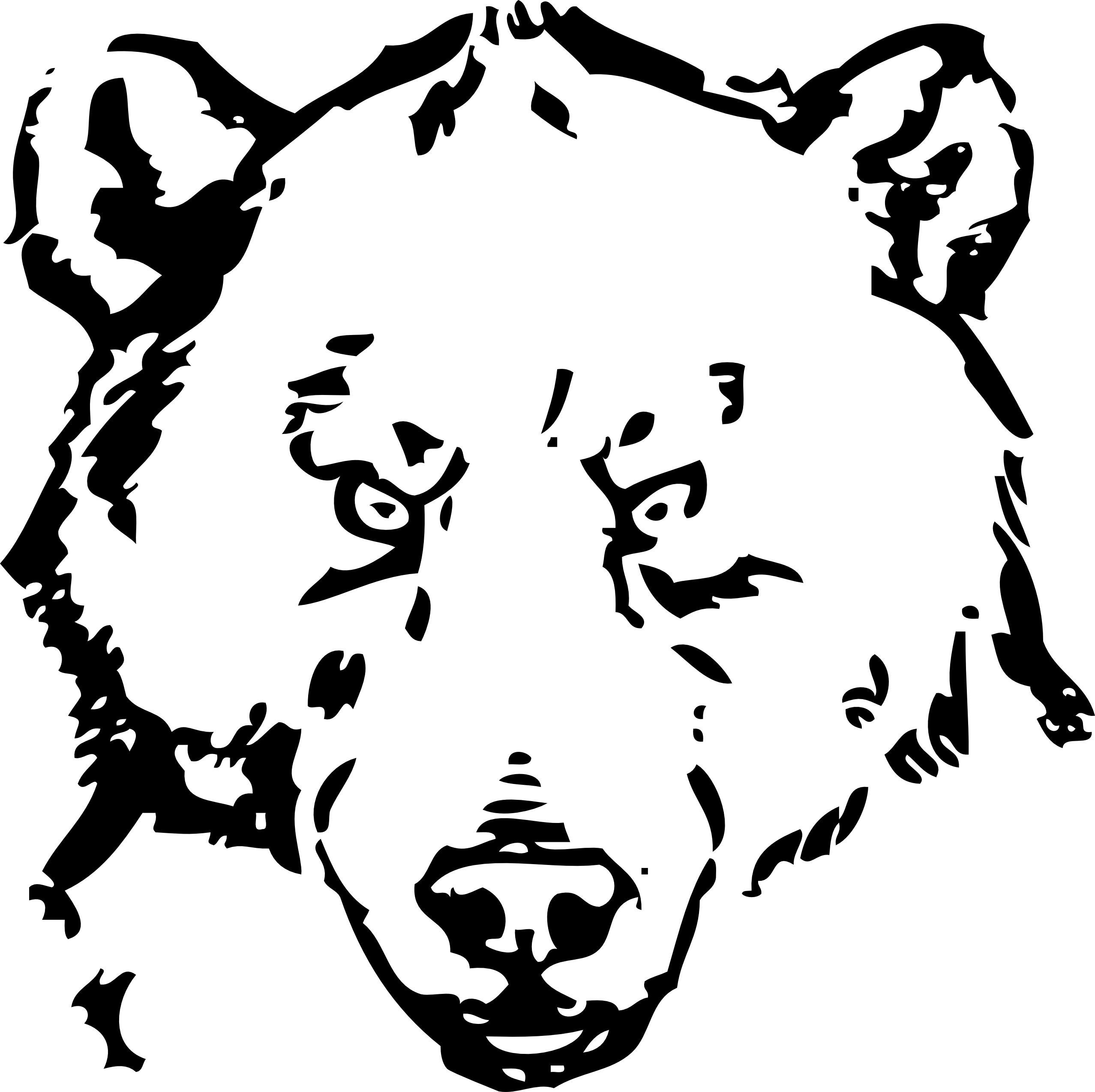 jpg black and white download Bear clip art panda. Grizzly clipart head