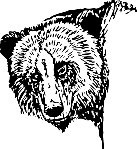 vector royalty free library Grizzly clipart head. Bear clip art at