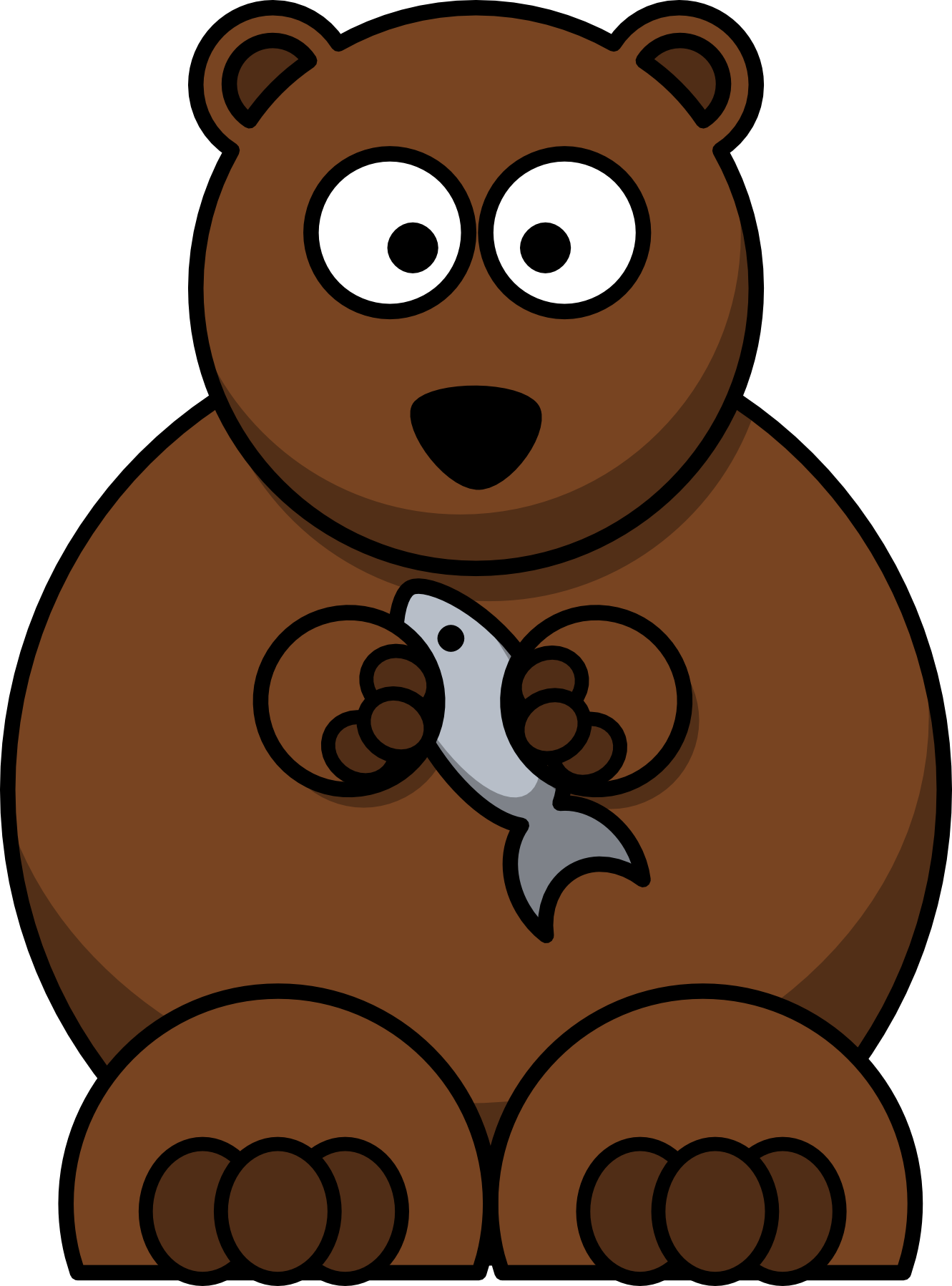 png black and white Grizzly clipart simple bear.  collection of easy