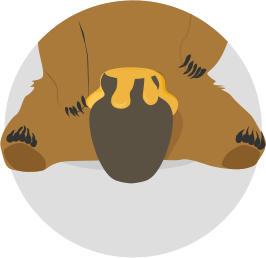 jpg transparent stock Grizzly clipart simple bear. Become a tunnelbear affiliate