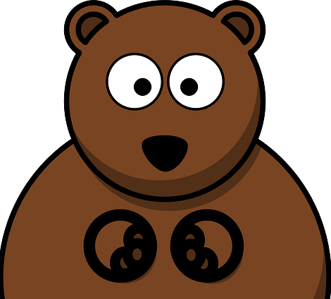 picture transparent library Jokes about bears fun. Grizzly clipart simple bear