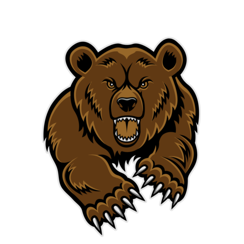 picture royalty free Grizzly clipart transparent. Image bear roaring bears