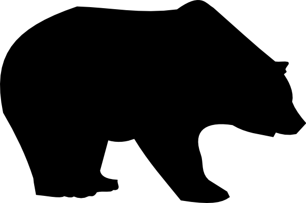 clip art royalty free download Simple Bear Silhouette at GetDrawings