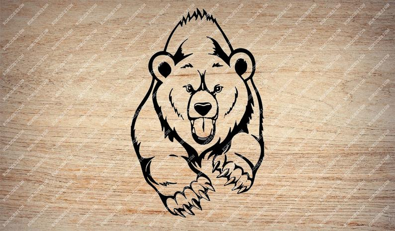 image freeuse stock Grizzly clipart wild bear. Svg file clip art