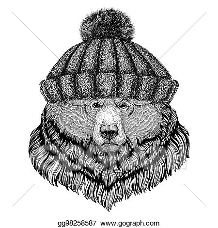 svg transparent library Clip art big wearing. Grizzly clipart wild bear