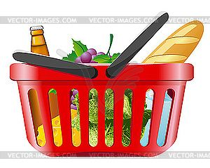clip art transparent download Grocery shopping clip art. Supermarket clipart basket goods