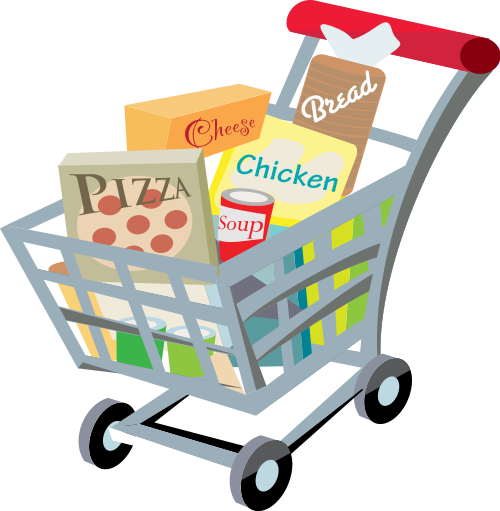 clip transparent stock Free cliparts shopping list. Supermarket clipart basket goods