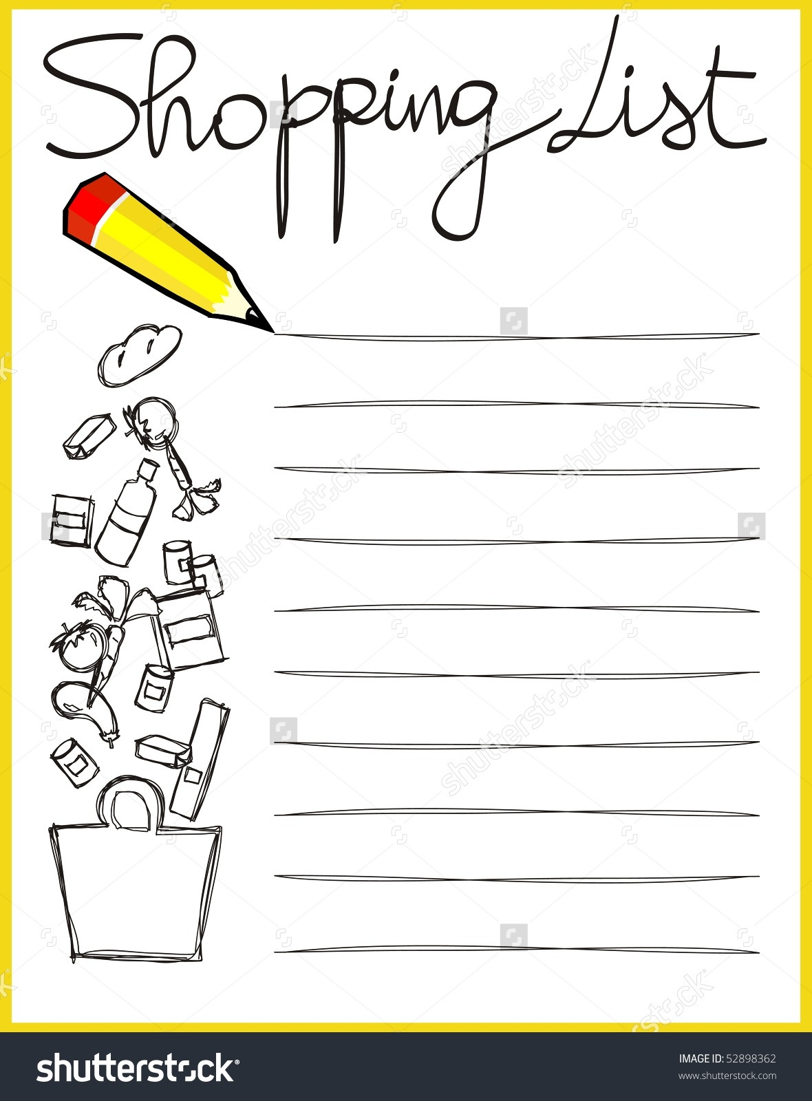 clip art freeuse library Transparent . Grocery clipart checklist