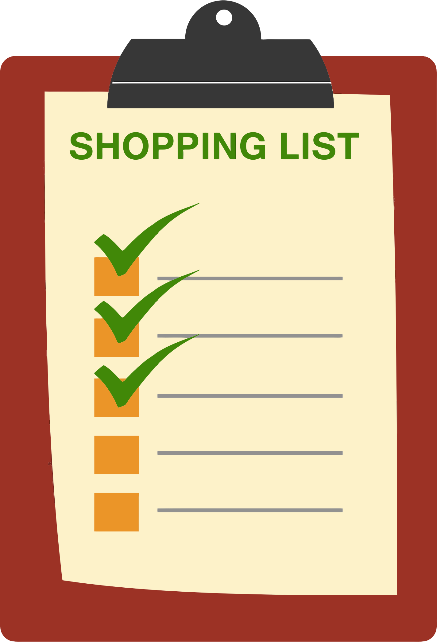 graphic library Grocery clipart checklist. List station