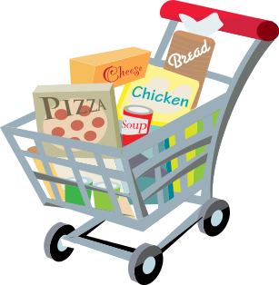 black and white Online hooks customers if. Grocery clipart customer shopping