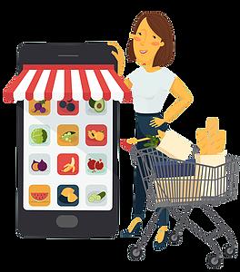 svg transparent stock Grocery clipart customer shopping. Morton williams supermarket mw