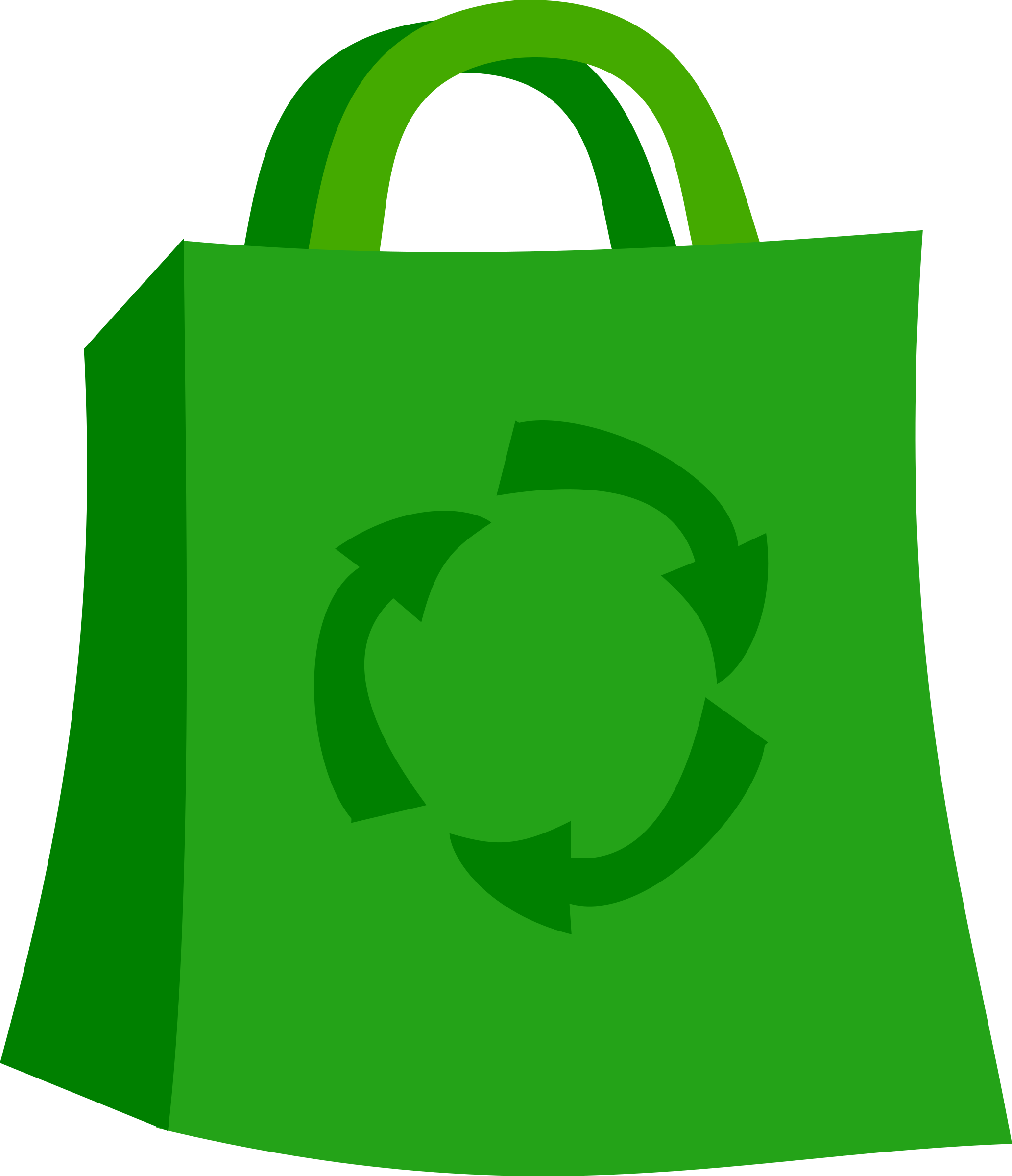 clip art Green shopping big image. Grocery clipart eco bag