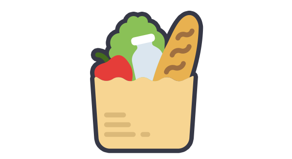 jpg library library Grocery clipart expensive food. Back in my day