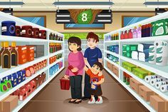 image freeuse library Supermarket clipart family. Download free graphicriver shopping
