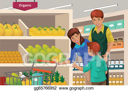 banner black and white download Vector family shopping fruits. Supermarket clipart purchase.
