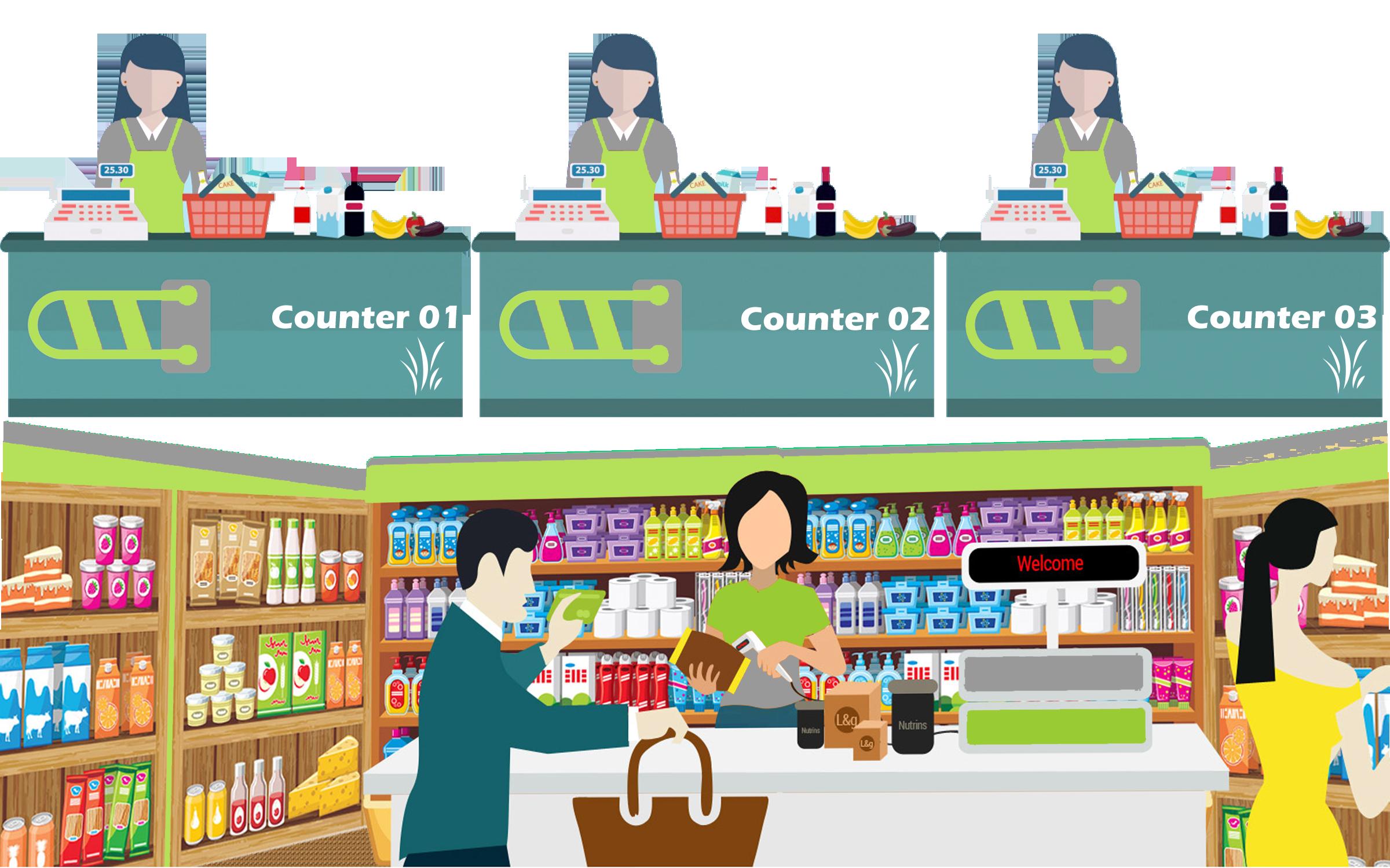 vector freeuse Supermarket clipart shop keeper. Grocery shopkeeper transparent .