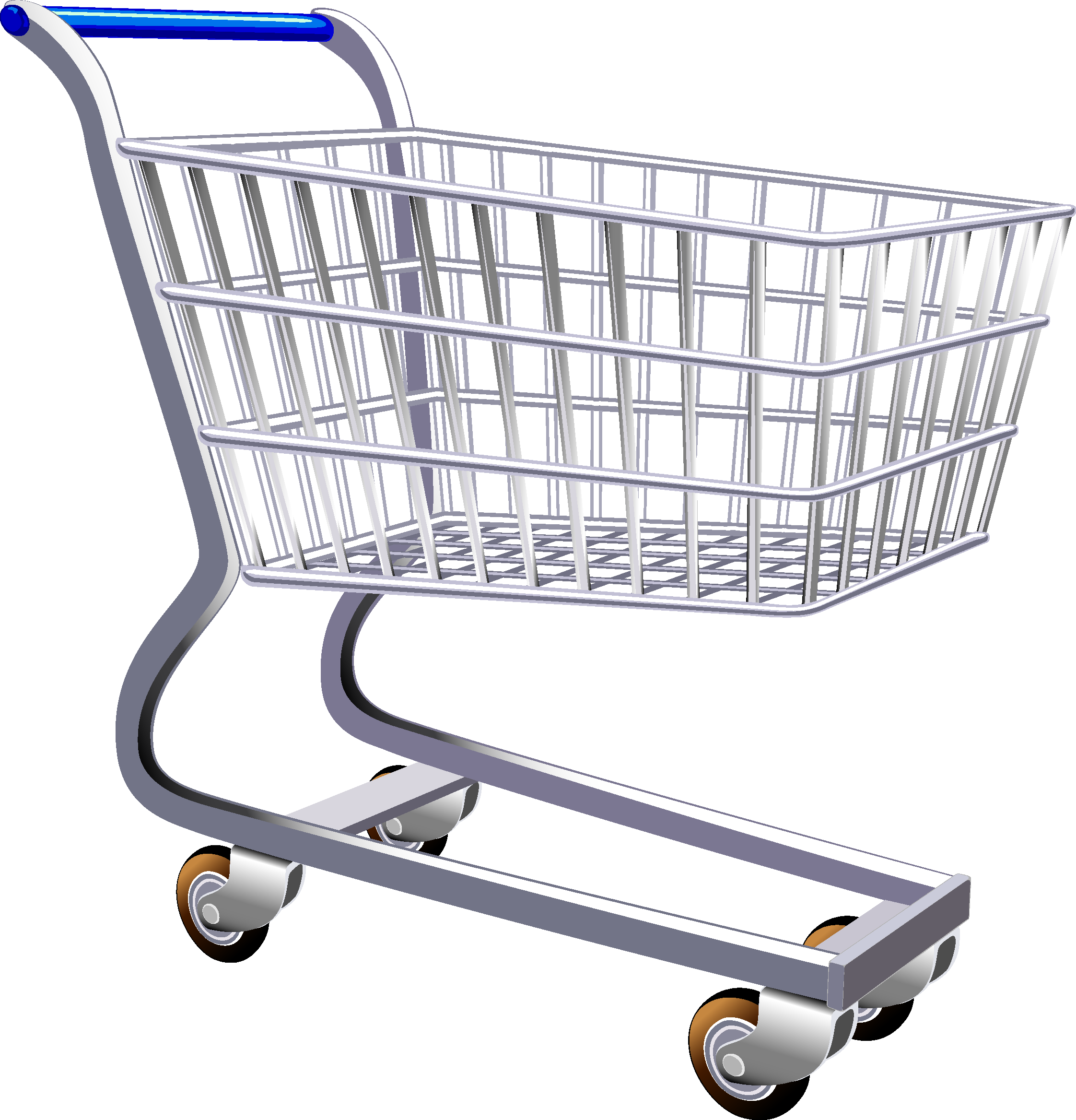 banner library Shopping cart clip art. Supermarket clipart trolley