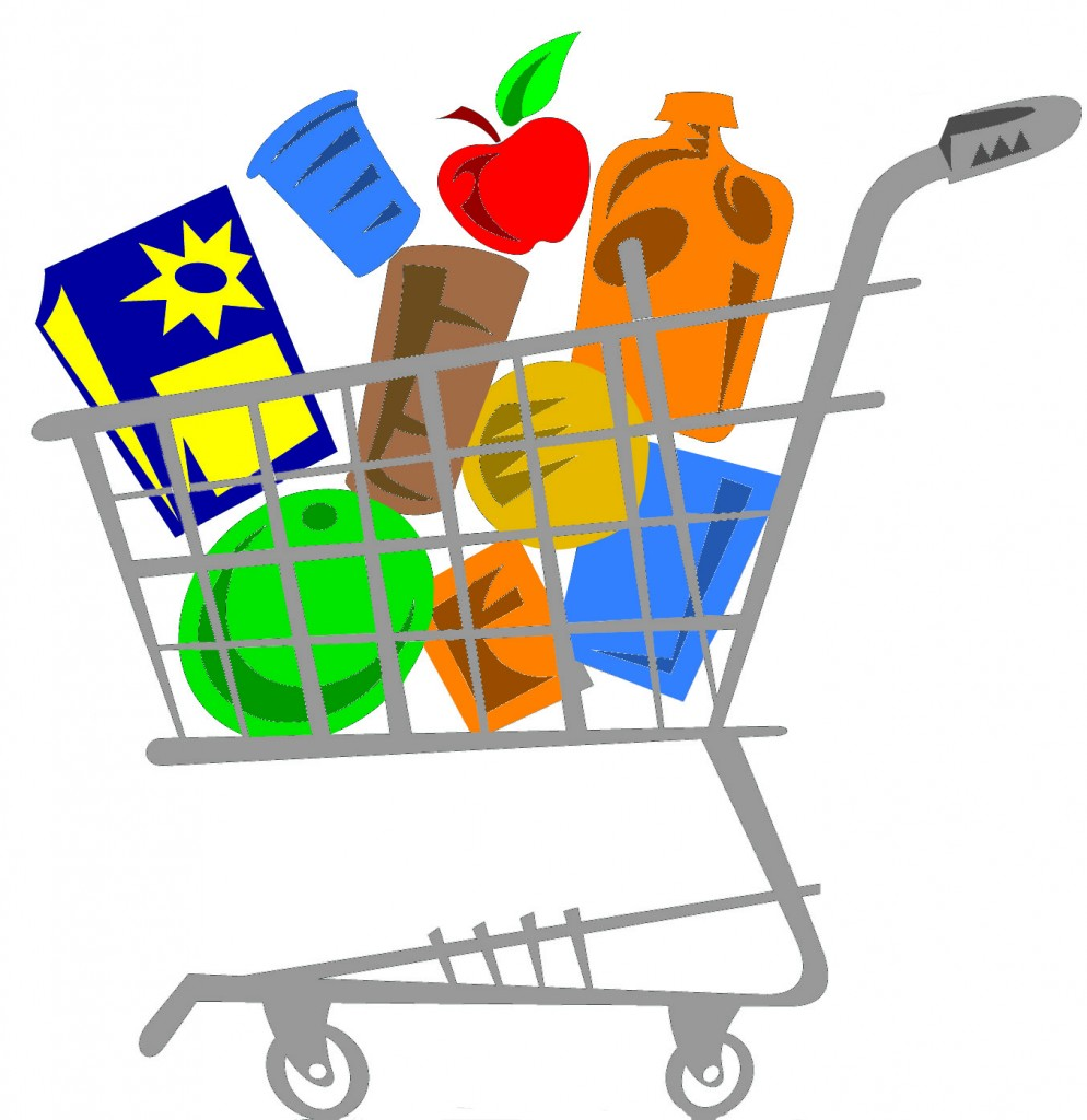 vector library stock Supermarket clipart trolley. Free grocery basket cliparts