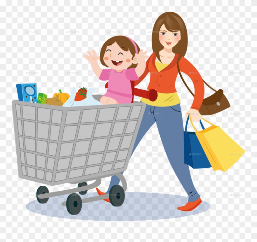 clipart transparent download Supermarket clipart shopping centre. Mom grocery store .