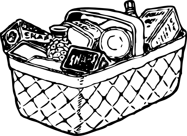 jpg black and white stock Grocery Cart Drawing at GetDrawings