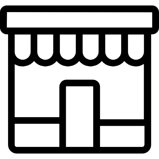 svg royalty free stock Stores icon png svg. Grocery store building clipart black and white
