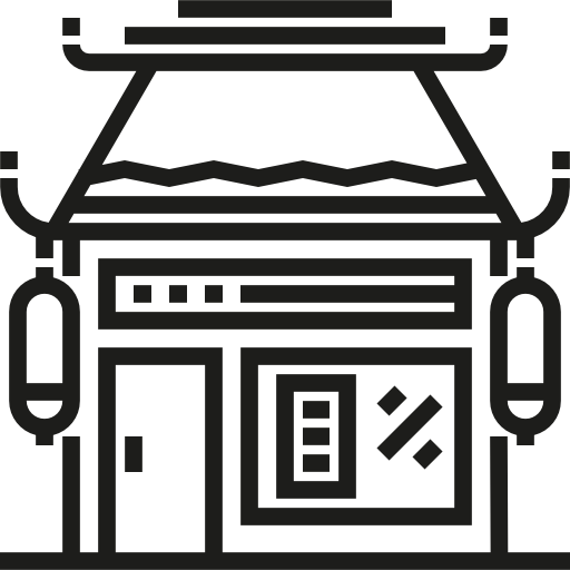 image royalty free download Food flat icon png. Grocery store building clipart black and white