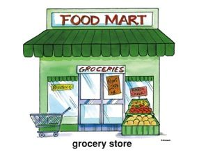 svg library library  awesome grocery felix. Supermarket clipart food store.