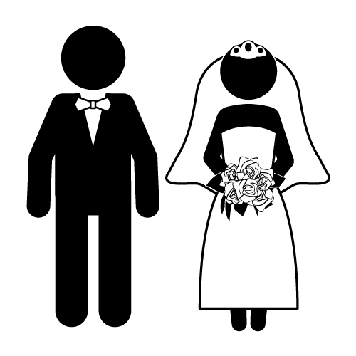 jpg download Groom clipart. Bride and funny kid.