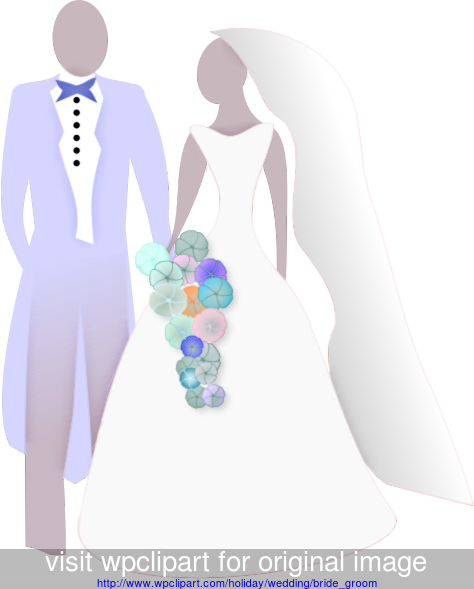 clipart stock Bride and silhouette clip. Groom clipart colored