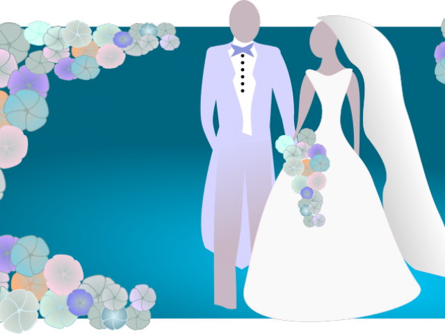 clip library stock Bride and illustration free. Groom clipart colored