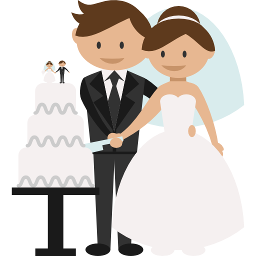 transparent People wedding couple bride. Groom clipart colored
