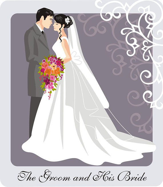 clipart freeuse library Groom clipart colored. Bride transparent free for