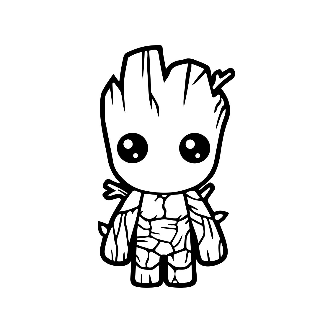 png transparent library Baby guardians of the. Groot vector